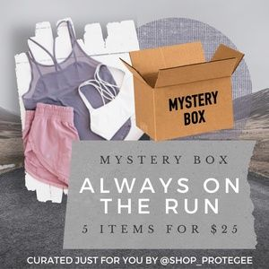 MYSTERY BOX WOMENS LARGE ATHLETIC 5/$25